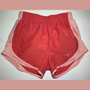 Nike Dri-Fit Athletic Shorts Peach Orange Pink